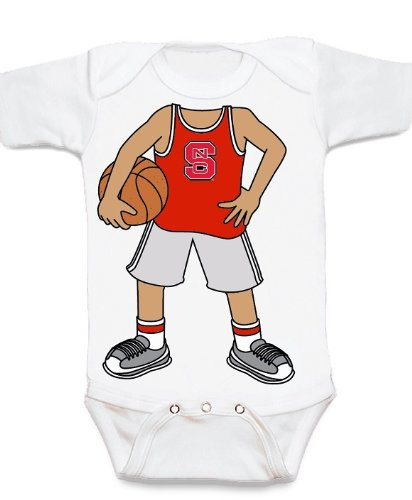 NC State Wolfpack Heads Up! Basketball Baby Onesie