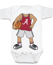 Alabama Crimson Tide Heads Up! Basketball Baby Onesie