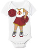 Iowa State Cyclones Heads Up! Cheerleader Baby Onesie