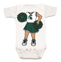 Michigan State Spartans Heads Up! Cheerleader Baby Onesie