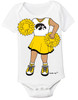 Iowa Hawkeyes Heads Up! Cheerleader Baby Onesie