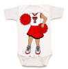 Texas Tech Red Raiders Heads Up! Cheerleader Baby Onesie