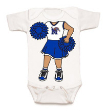 Memphis Tigers Heads Up! Cheerleader Baby Onesie