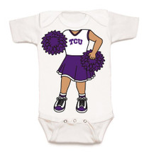 Texas Christian TCU Horned Frogs Heads Up! Cheerleader Baby Onesie