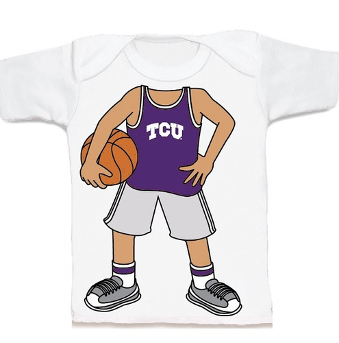 Texas Christian TCU Horned Frogs Heads Up! Basketball Infant/Toddler T-Shirt