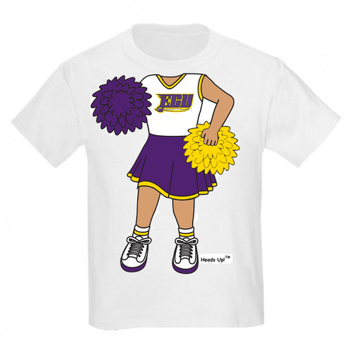 East Carolina Pirates Heads Up! Cheerleader Infant/Toddler T-Shirt