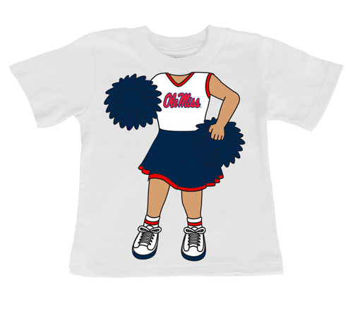 Mississippi Ole Miss Rebels Heads Up! Cheerleader Infant/Toddler T-Shirt