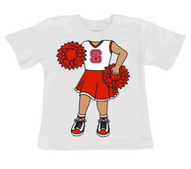NC State Wolfpack Heads Up! Cheerleader Infant/Toddler T-Shirt