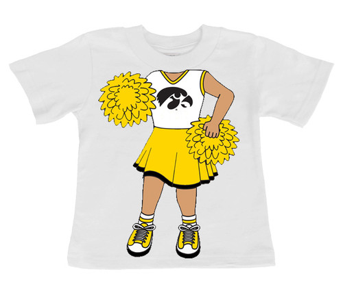 Iowa Hawkeyes Heads Up! Cheerleader Infant/Toddler T-Shirt
