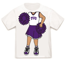 Texas Christian TCU Horned Frogs Heads Up! Cheerleader Infant/Toddler T-Shirt