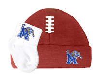 Memphis Tigers Baby Football Cap and Socks Set