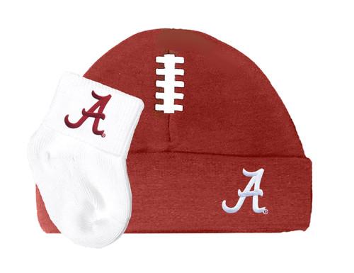 Alabama Crimson Tide Football Cap and Socks Baby Set