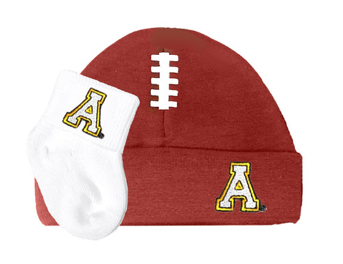 Appalachian State Mountaineers Football Cap and Socks Baby Set