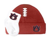 Auburn Tigers Baby Football Cap and Socks Set