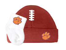 Clemson Tigers Baby Football Cap and Socks Set