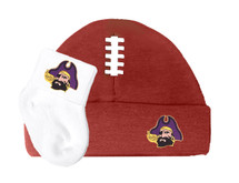 East Carolina Pirates Baby Football Cap and Socks Set