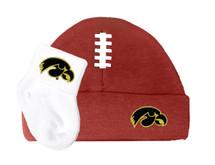Iowa Hawkeyes Football Cap and Socks Baby Set