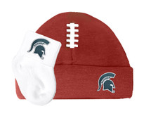 Michigan State Spartans Baby Football Cap and Socks Set
