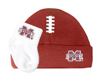 Mississippi State Bulldogs Football Cap and Socks Baby Set