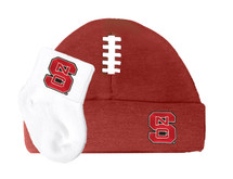 NC State Wolfpack Baby Football Cap and Socks Set