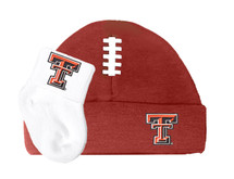Texas Tech Red Raiders Baby Football Cap and Socks Set