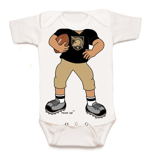 Army Black Knights Heads Up! Football Baby Onesie