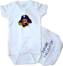 East Carolina Pirates Future Tailgater Baby Onesie