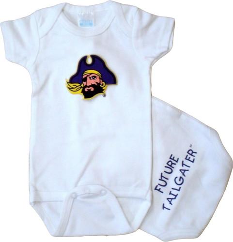 East Carolina Pirates Future Tailgater Baby Onesie