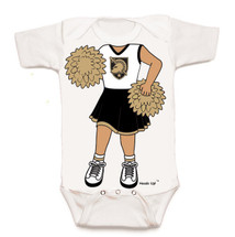Army Black Knights Heads Up! Cheerleader Baby Onesie