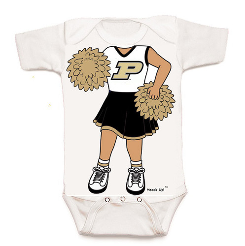 Purdue Boilermakers Heads Up! Cheerleader Baby Onesie