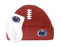 Penn State Nittany Lions Football Cap and Socks Baby Set
