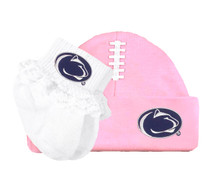 Penn State Nittany Lions Football Cap and Socks with Lace Baby Set