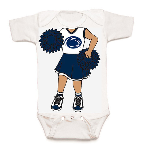 Penn State Nittany Lions Heads Up! Cheerleader Baby Onesie