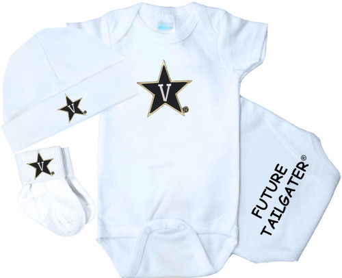 Vanderbilt Commodores Homecoming 3 Piece Baby Gift Set