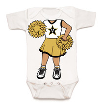Vanderbilt Commodores Heads Up! Cheerleader Baby Onesie