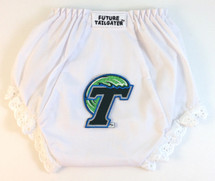 Tulane Green Wave Eyelet Baby Diaper Cover