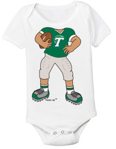 Tulane Green Wave Heads Up! Football Baby Onesie