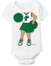 Tulane Green Wave Heads Up! Cheerleader Baby Onesie