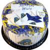 Delaware Blue Hens Baby Fan Cake Clothing Gift Set