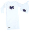 Penn State Nittany Lions Baby Layette Gown and Knotted Cap Set