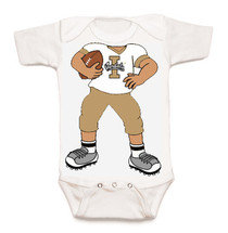 Idaho Vandals Heads Up! Football Baby Onesie