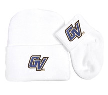 Grand Valley State Lakers Newborn Baby Knit Cap and Socks Set