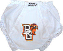 Bowling Green St. Falcons Eyelet Baby Diaper Cover