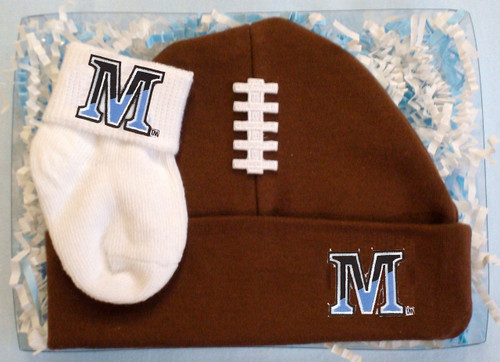Maine Black Bears Football Cap and Socks  Baby Gift Set
