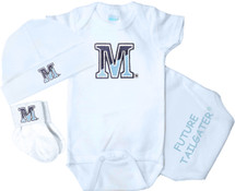 Maine Black Bears Homecoming 3 Piece Baby Gift Set