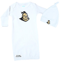 UCF Knights Baby Layette Gown and Knotted Cap Set