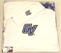 Grand Valley State Lakers Baby Layette Gown and Knotted Cap Gift Set