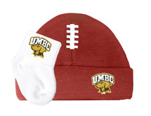 UMBC Retrievers Football Cap and Socks  Baby Set