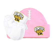 UMBC Retrievers Football Cap and Socks with Lace Baby Set