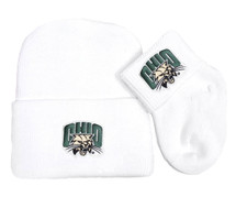 Ohio Bobcats Newborn Baby Knit Cap and Socks Set